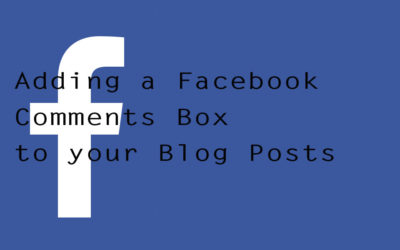 Adding a Facebook Comments Box